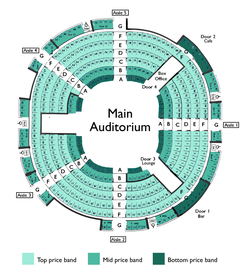 Seating Plan New Vic Theatre